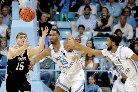 Editorial image of Wofford North Carolina Basketball, Chapel Hill, USA - 15 Dec 2019