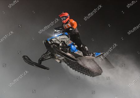 Professional Pro Lite Snocross racer Jay Lura competes at the Country Cat SnoCross National, an ISOC Amsoil Championship SnoCross event, held at Buffalo River Race Park, Glyndon, MN