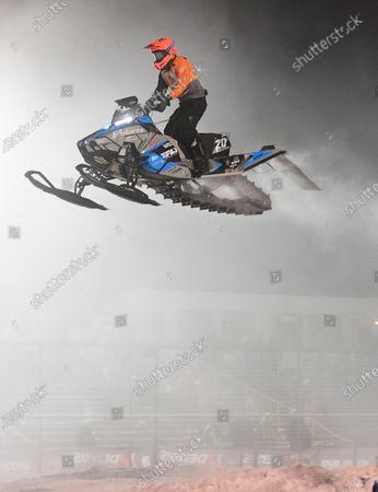 Editorial image of ISOC Amsoil Championship Snocross - Fargo, ND DEC14, Glyndon, USA - 14 Dec 2019