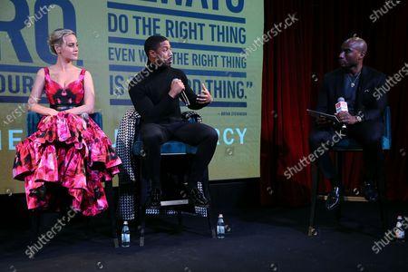 Stock Photo of Brie Larson, Michael B. Jordan and Charlamagne tha God