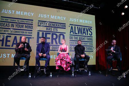 Brie Larson, Bryan Stevenson, Jamie Foxx, Michael B. Jordan and Charlamagne tha God