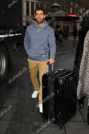 Editorial image of Kelvin Fletcher out and about, London, UK - 16 Dec 2019