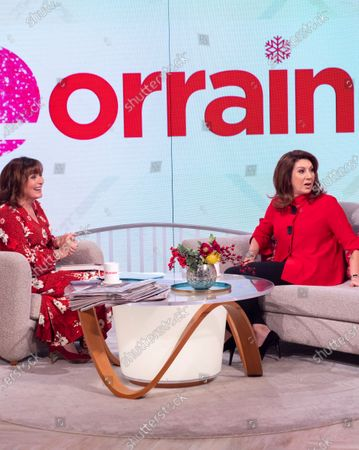 Editorial image of 'Lorraine' TV show, London, UK - 16 Dec 2019