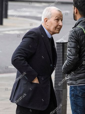 Stock Photo of Former Labour MP Frank Field arrives at the Houses of Parliament