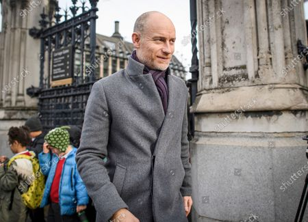 Stock Image of Labour MP Stephen Kinnock seen at the Houses of Parliament