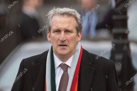 Stock Picture of Former Secretary of State for Education Damian Hinds departs the Houses of Parliament.