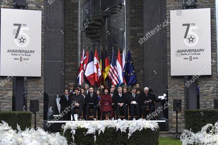 King Philippe, Queen Mathilde, Charles Michel, Koen Geens, Sophie Wilmes, Pieter De Crem, Jan Jambon, Grand Duke Henri of Luxembourg