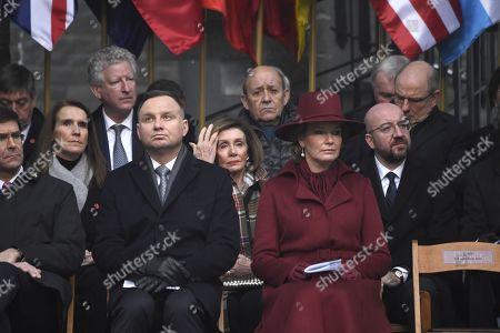 Queen Mathilde, Charles Michel, Koen Geens, Sophie Wilmes, Pieter De Crem, Jan Jambon