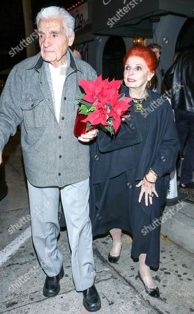 Stock Picture of Carole Cook and Tom Troupe are seen in Los Angeles