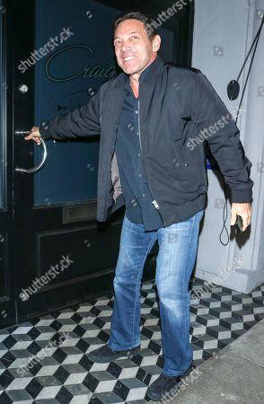 Jordan Belfort at Craig's restaurant in Los Angeles