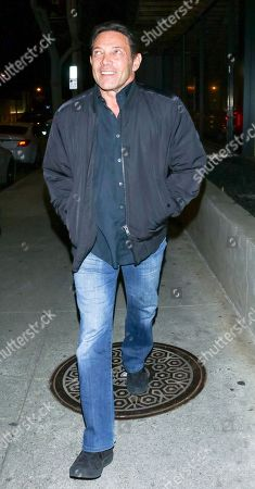 Stock Image of Jordan Belfort at Craig's restaurant in Los Angeles