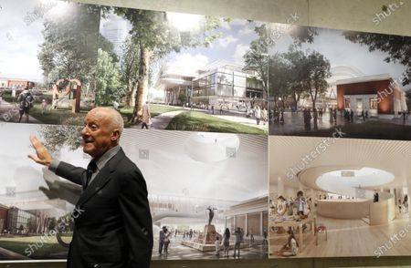 British architect Norman Foster presents the last progress in his project for the renovation and extension of the Fine Arts Museum in Bilbao, Spain, 16 December 2019. Foster and Partners have won the international competition to design the new Bilbao Fine Arts Museum in summer 2019.