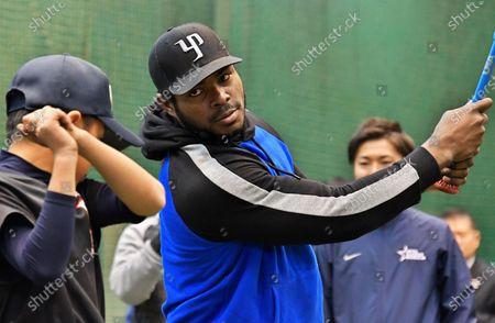 Editorial picture of Yasiel Puig holds a baseball workshop, Tokyo, Japan - 14 Dec 2019