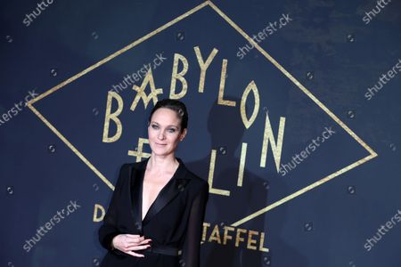 Jeanette Hain poses during the premiere of the third season of the TV series 'Babylon Berlin' at the Zoo Palast in Berlin, Germany, 16 December 2019. The German crime drama is based on novels by author Volker Kutscher.
