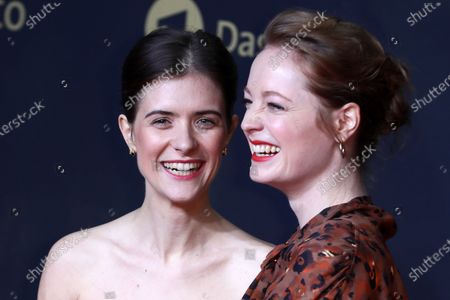 Liv Lisa Fries (L) and Leonie Benesch pose during the premiere of the third season of the TV series 'Babylon Berlin' at the Zoo Palast in Berlin, Germany, 16 December 2019. The German crime drama is based on novels by author Volker Kutscher.