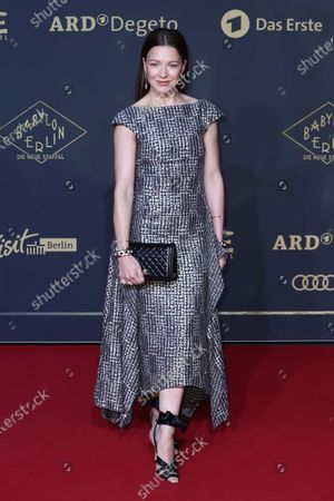 Hannah Herzsprung poses during the premiere of the third season of the TV series 'Babylon Berlin' at the Zoo Palast in Berlin, Germany, 16 December 2019. The German crime drama is based on novels by author Volker Kutscher.