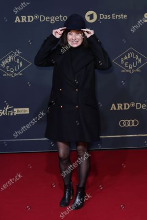 Inka Friedrich poses during the premiere of the third season of the TV series 'Babylon Berlin' at the Zoo Palast in Berlin, Germany, 16 December 2019. The German crime drama is based on novels by author Volker Kutscher.