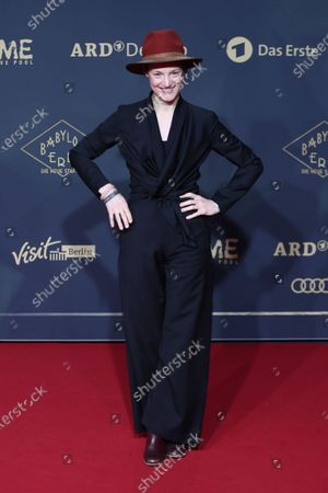 Stock Picture of Vicky Krieps poses during the premiere of the third season of the TV series 'Babylon Berlin' at the Zoo Palast in Berlin, Germany, 16 December 2019. The German crime drama is based on novels by author Volker Kutscher.