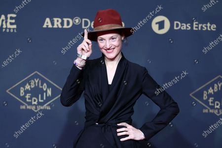 Vicky Krieps poses during the premiere of the third season of the TV series 'Babylon Berlin' at the Zoo Palast in Berlin, Germany, 16 December 2019. The German crime drama is based on novels by author Volker Kutscher.