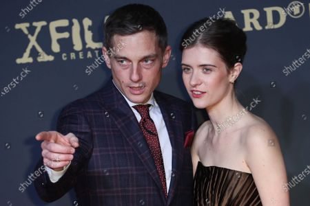 Volker Bruch and Actress Liv Lisa Fries pose during the premiere of the third season of the TV series 'Babylon Berlin' at the Zoo Palast in Berlin, Germany, 16 December 2019. The German crime drama is based on novels by author Volker Kutscher.