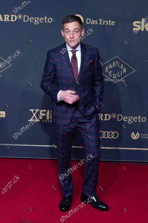 Volker Bruch poses during the premiere of the third season of the TV series 'Babylon Berlin' at the Zoo Palast in Berlin, Germany, 16 December 2019. The German crime drama is based on novels by author Volker Kutscher.