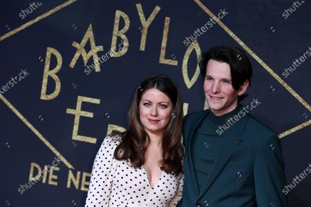 German actor Sabin Tambrea (R) and actress Alice Dwyer (L) pose during the premiere of the third season of the TV series 'Babylon Berlin' at the Zoo Palast in Berlin, Germany, 16 December 2019. The German crime drama is based on novels by author Volker Kutscher.