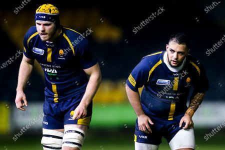 Kai Owen and Justin Clegg of Worcester Cavaliers