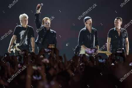 Editorial photo of U2 in concert at DY Patil Stadium, Mumbai, India - 15 Dec 2019