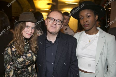 Stock Picture of Katie Brayben (Elizabeth Laine), Conor McPherson (Author/Director) and Gloria Obianyo (Marianne)