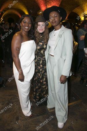 Rachel John (Mrs Neilsen), Katie Brayben (Elizabeth Laine) and Gloria Obianyo (Marianne)