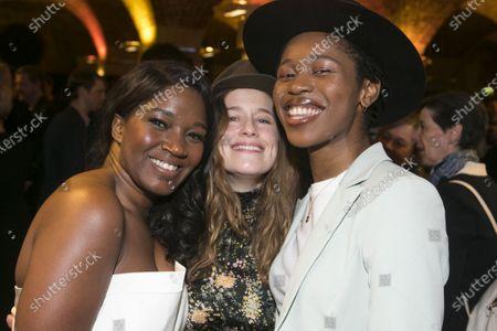Stock Picture of Rachel John (Mrs Neilsen), Katie Brayben (Elizabeth Laine) and Gloria Obianyo (Marianne)