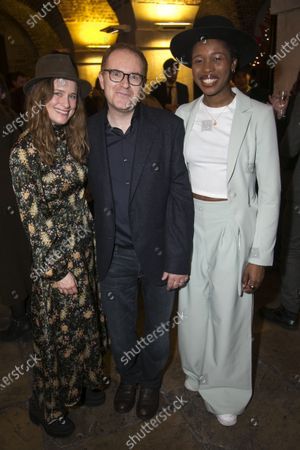 Stock Image of Katie Brayben (Elizabeth Laine), Conor McPherson (Author/Director) and Gloria Obianyo (Marianne)
