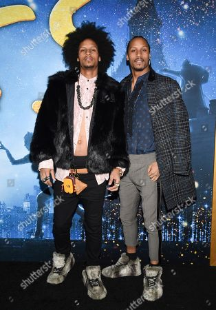 "Stock Picture of Laurent Bourgeois, Larry Nicolas Bourgeois. Actors Laurent Bourgeois, left, and Larry Nicolas Bourgeois attend the world premiere of ""Cats"" at Alice Tully Hall, in New York"