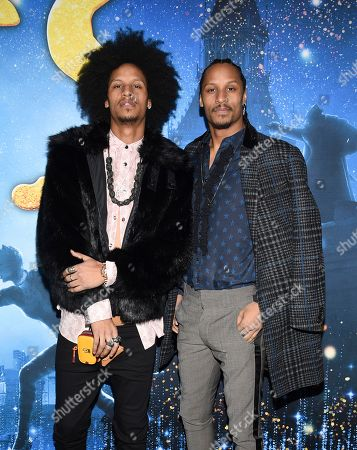 "Laurent Bourgeois, Larry Nicolas Bourgeois. Actors Laurent Bourgeois, left, and Larry Nicolas Bourgeois attend the world premiere of ""Cats"" at Alice Tully Hall, in New York"