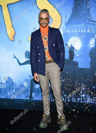 """Stock Photo of Jay Manuel attends the world premiere of """"Cats"""" at Alice Tully Hall, in New York"""