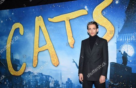 """Laurie Davidson attends the world premiere of """"Cats"""" at Alice Tully Hall, in New York"""