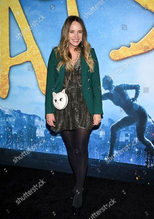 """Grace Atwood attends the world premiere of """"Cats"""" at Alice Tully Hall, in New York"""