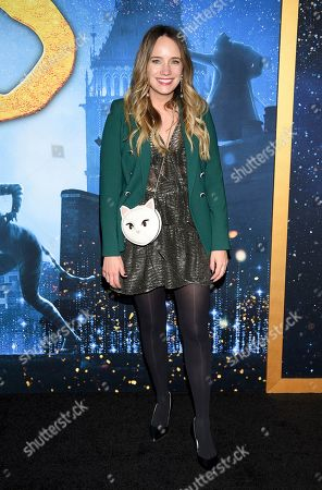 """Stock Picture of Grace Atwood attends the world premiere of """"Cats"""" at Alice Tully Hall, in New York"""
