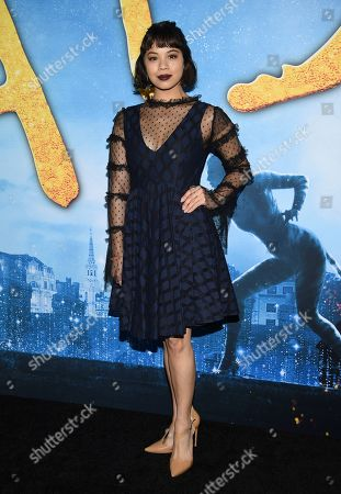 """Eva Noblezada attends the world premiere of """"Cats"""" at Alice Tully Hall, in New York"""