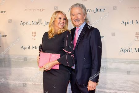 Stock Photo of Linda de Mol and Patrick Duffy