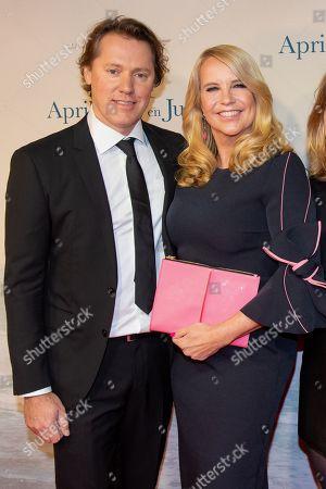 Linda de Mol and her partner Jeroen Rietbergen