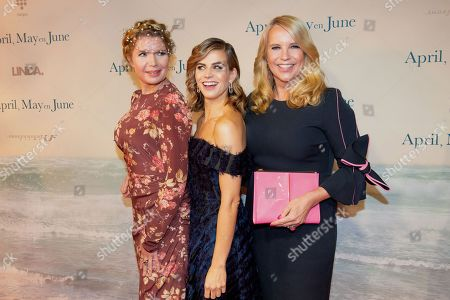 Tjitske Reidinga, Elise Schaap and Linda de Mol