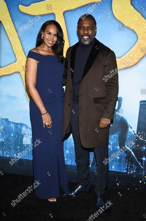 """Sabrina Dhowre Elba, Idris Elba. Sabrina Dhowre Elba, left, and Idris Elba attend the world premiere of """"Cats,"""" at Alice Tully Hall, in New York"""