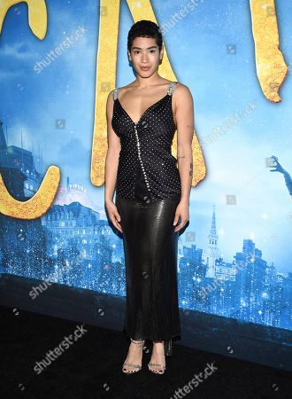 """Mette Towley attends the world premiere of """"Cats,"""" at Alice Tully Hall, in New York"""