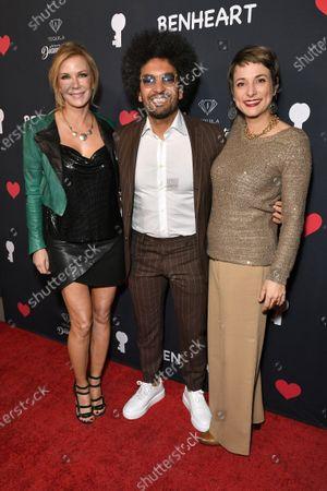 Katherine Kelly Lang, Hicham Benmbarek Sheraian and Silvia Chiave