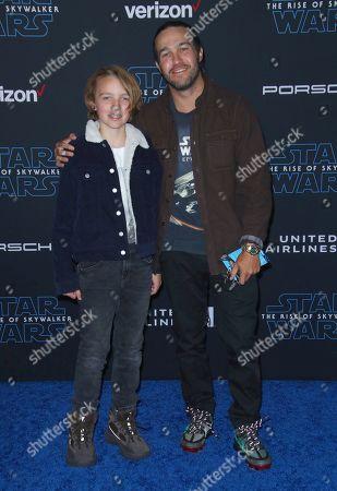 Stock Picture of Pete Wentz and son Bronx Wentz
