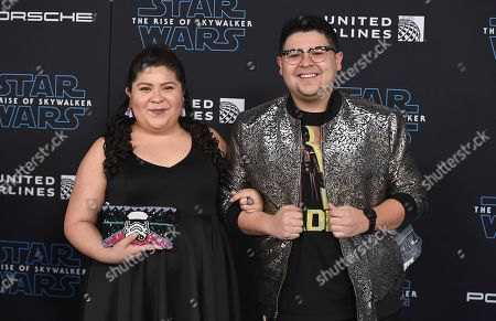 """Raini Rodriguez, Rico Rodriguez. Raini Rodriguez, left, and Rico Rodriguez arrive at the world premiere of """"Star Wars: The Rise of Skywalker"""", in Los Angeles"""