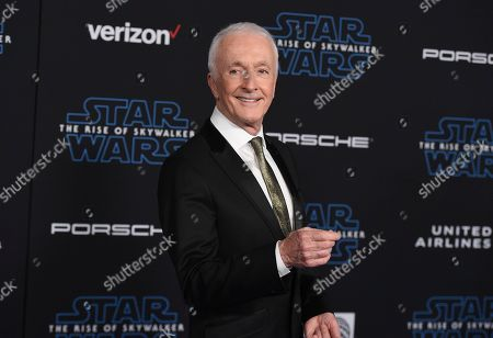 """Anthony Daniels arrives at the world premiere of """"Star Wars: The Rise of Skywalker"""", in Los Angeles"""