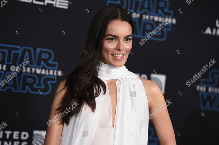 """Julieth Restrepo arrives at the world premiere of """"Star Wars: The Rise of Skywalker"""", in Los Angeles"""
