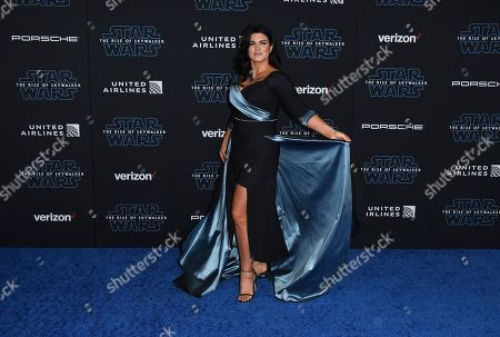"Gina Carano arrives at the world premiere of ""Star Wars: The Rise of Skywalker"", in Los Angeles"